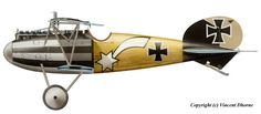 Albatros D.V  Unit: Jasta 32b  Serial: unknown  Pilot - Staffelfuhrer Lt. Hans Auer. Boulain airfield, 21st September 1917.