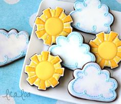 LilaLoa: How to Make Easy Decorated Cloud Cookies
