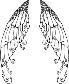 Double Fairy Wings Coloring page