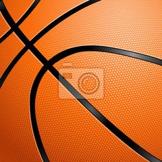 Closeup Of A Basketball Wall Murals
