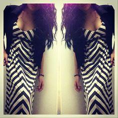 Black n' White Maxi Dress with Blazer