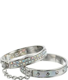 GUESS Hand Cuff Duo Bangle Bracelet Set