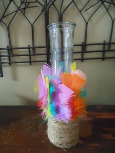Feather vase! Check out this item in my Etsy shop https://www.etsy.com/listing/273107846/feather-twine-vase