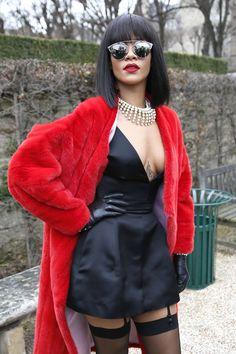 #Rihanna in #Paris in #ChristianDior - February 28, 2014