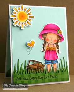 Every Day Is a Picnic stamp set and Die-namics, Gingham Background, Grassy Edges Die-namics - Kim O'Connell #mftstamps