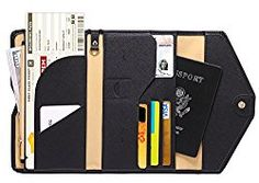 Zoppen Mulit-purpose Rfid Blocking Travel Passport Wallet Tri-fold Document Organizer Holder and 2 Extra Luggage Tags, Chocolate Passport Wallet, Passport Holders, Passport Cover, Travel Items, Travel Gifts, Travel Products, Travel Packing, Travel Luggage, Packing Cubes