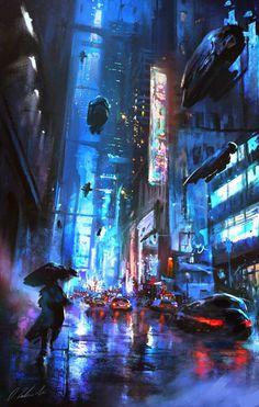 Blade Runner Streets by daRoz (Darek Zabrocki)