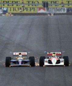 Mansell/Senna - 1991 Spanish GP