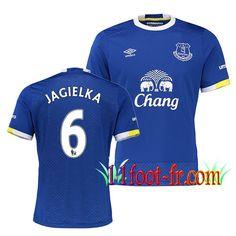 Maillot de FC Everton 2016/17 Homme JAGIELKA 6 Domicile Bleu Manche Courte   Personnaliser en Thailande