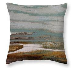 Day at the Gulf 7 pillow by Kimberly Conrad  ~  #beachpillow#coastaldecor#interiordesign#ocean#nauticalpill0w