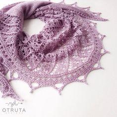 Silk hand knit shawl wedding shawl lace bridal cover up half circle wrap lavender purple gift women by Otruta on Etsy