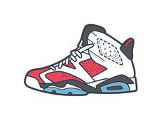 AJ 6 designed by Rice Tang. Sneakers Wallpaper, Shoes Wallpaper, Chris Brown Art, Michael Jordan Art, Icon Clothing, Shoes Vector, Cool Trainers, Rapper Art, Jordan Retro 6