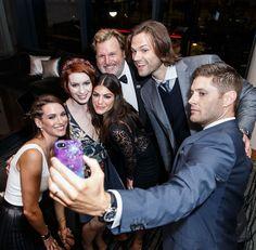 Danneel Ackles, Jensen Ackles, Actor Jared Padalecki and Actress Genevieve Padalecki celebrate the 200th episode of 'Supernatural'