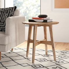 Langley Street Payton End Table Color: Light Oak Modern Sofa, Living Room Modern, All Modern, Modern Furniture, Cozy Living, Small Living, Living Rooms, Living Spaces, End Tables With Storage
