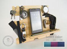 Wooden Docking Station | Phone Stand | Charging Dock | Desk organizer | DF1-02 by IKORENstore on Etsy