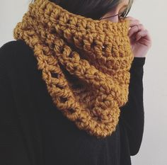 A personal favorite from my Etsy shop https://www.etsy.com/listing/262794189/chunky-oversized-crochet-mustard-cowl