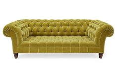 One Kings Lane - Coveted Classics - Victorian Chesterfield Sofa, Olive Luxury Furniture, Furniture Decor, Furniture Design, Victorian Sofa, Chesterfield Sofa, Tuffed Sofa, Mid Century House, Decoration, Decor Styles