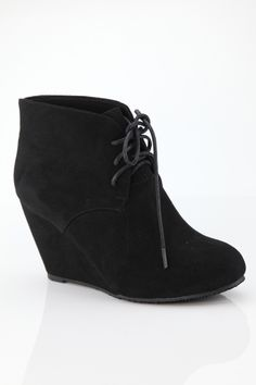 Basic wedge bootie in black is a fashion statement come back this year!!  Shipping in US $5 | Shop this product here: spreesy.com/graceadornedboutique/274 | Shop all of our products at http://spreesy.com/graceadornedboutique    | Pinterest selling powered by Spreesy.com
