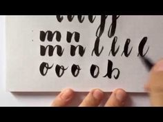 #letterattack Lettering Lessons - Brush Lettering 1x1 mit Frau Hölle - YouTube