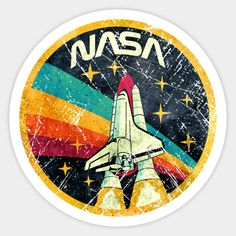 Shop USA Space Agency Vintage Colors nasa stickers designed by Lidra as well as other nasa merchandise at TeePublic. Stickers Cool, Bubble Stickers, Phone Stickers, Printable Stickers, Aesthetic Stickers, Vintage Colors, Sticker Design, Prints, Vsco