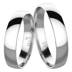 721e8a7bd Snubní prsteny BRILAS - bílé zlato. Inspirace Pro Svatbu, Snubní Prsteny