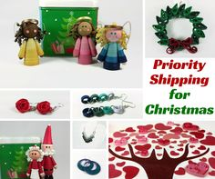 LAST MINUTE SHOPPERS LOOK NO FURTHER! Ask me about PRIORITY SHIPPING on hundreds of unique gifts. https://www.etsy.com/shop/SweetheartsandCrafts Whimsical Paper Quilled Jewelry and Ornaments ‪#‎lastminute‬ ‪#‎christmasdelivery‬ ‪#‎EtsyGifts #lastminuteshopping #ontime #christmasgifts #giftforher #giftsforher #giftformom #giftsformom #giftformother #giftsformother #giftforgirlfirend #giftforgirl #uniquejewelry #jewelrygift #jewelrygram #chrismasornaments #christmasjewelry #uniquegiftideas