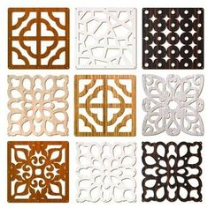 Hanging Divider Screen - Decorative carved wood panels each 29*29cm delivered with hardware and easily installed. The perfect economical great looking mechitza divider. Available in your preferred color wood stain as shown below.