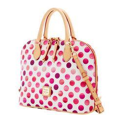 Dooney & Bourke | Dots Zip Ziip Satchel | Spring Fashion    Millennial Pink | Trends | Trending | Pink Handbag | Pink Accessory | Pink Accessories | Pink Purse | Fashion | Style | Bold | Pink | Blush | Magenta