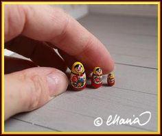 Perhe Malmström - mini Russian stacking dolls