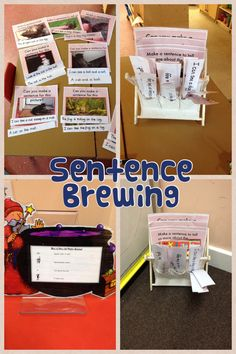 Supporting sentence writing in our writing area Writing Corner, Writing Area, Writing Skills, Writing Workshop, Eyfs Activities, Writing Activities, Kindergarten Activities, Primary Teaching, Teaching Letters
