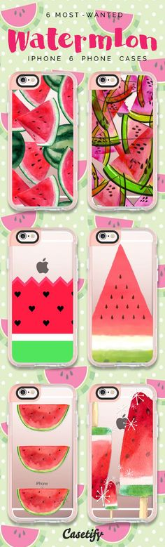 Top 6 Watermelon iPhone 6 protective phone case designs | Click through to see…