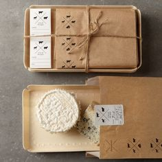 Cheese Packaging - Most people don't know that wrapping cheese in plastic wrap or plastic bags reduces the shelf life. Cheese needs special breathable paper so it doesn't grow the bad kind of mold. Properly wrap any fancy cheese with this special cheese packaging