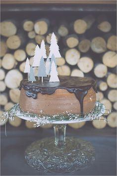 chocolate wedding cake #weddingcake @weddingchicks