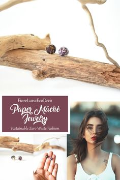 Mismatched mini half pearl stud earrings handmade by upcycling paper (paper mâché). Burgundy and gold color. Protected with non-toxic water-based paint. Material: 100% recycled paper, metal small parts in gold color #burgundyearrings #burgundybohooutfit #burgundyfashion #burgundyandgoldoutfit #winecoloroutfits