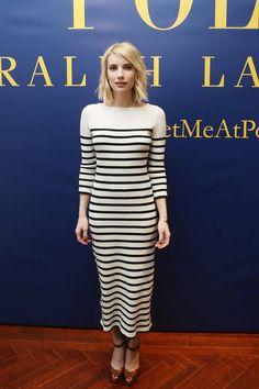 Emma Roberts au défilé Polo Ralph Lauren