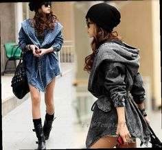 44.91$  Buy here - http://alibki.worldwells.pw/go.php?t=32709939222 - The explosion of waist coat and jeans Cowboys windbreaker long sleeved cardigan in the long section of Cape SK02846.