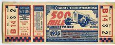 1935 Indianapolis 500 ticket | by indianapolismotorspeedway.com