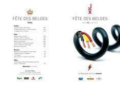 """21/07/2010 - Fête des belges """"La Belgique est à la masse""""  Design: C. Brochier Réalisation: Teepee Design, Winter Games, Gaming"""