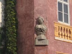 A detail of a barock house at Uvoz street in Prague.