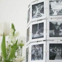 Hochzeitsfotos in Schwarz-Weiß als Lampe