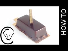 Shiny Chocolate Mirror Glaze Covered Mousse Bars Entremet by Cupcake Savvy's Kitchen - YouTube