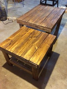 Pallet coffee table and end table