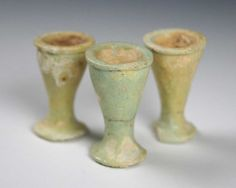 A group of three Egyptian Offering Cups, 26th Dynasty, 664-525 BC