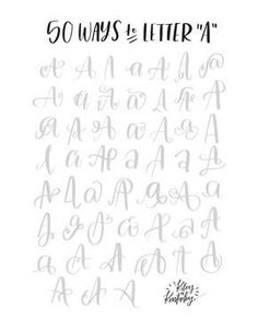 """50 ways to letter """"A"""" 