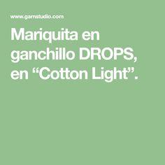 """Mariquita en ganchillo DROPS, en """"Cotton Light""""."""