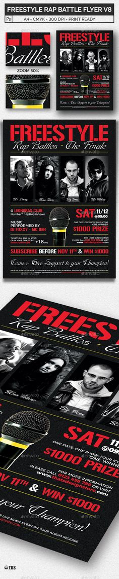 Free Black And White Club Flyer Template - http\/\/wwwfreepsdflyer - benefit flyer templates