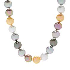 """156-762 - JOIA De Majorca 18"""" or 20"""" 12mm Round Organic Man-Made Pearl Necklace"""
