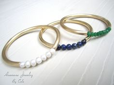 Lapis Bangle Bracelet In 18k Gold  Lapis by AnemoneJewelry on Etsy, $54.00