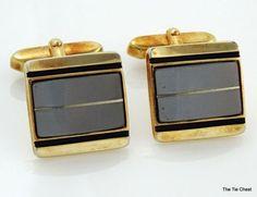Elegant Men's Gold Tone Angled Cufflinks | The Tie Chest