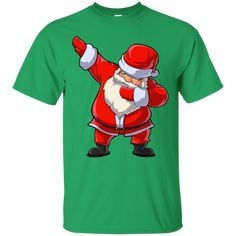 96754a46 Dabbing Santa T-Shirt - Funny Santa Claus Christmas Dab Tee | Merry ...